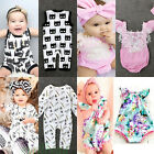 Newborn Toddler Baby Girl Romper Jumpsuit Bodysuit Outfit Sunsuit Clothes 0-24M