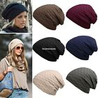 Unisex Men Women Casual Solid Stretchy Braid Pattern Knitted Beanie Hat EN24H01