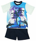 Boys Official Star Wars Stormtrooper Shorty Cotton Pyjamas 3 to 10 Years