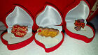 Heart MOM PINS  BROOCHES w/ Love Gift Box Jewelry Case Velvet Red Heart included