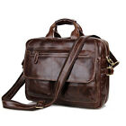 Men's Genuine Vintage Leather Messenger Bag Shoulder Laptop Bag Briefcases