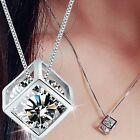 Charming Fashion Women's Silver Plated Chain Crystal Rhinestone Pendant Necklace