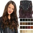 Koko 8 piece curly clip in hair extensions full head hairpiece Various colours