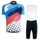 New Mens Cycling Jersey Bib Shorts Bicycle Tops Tights With Padded Lycra Kits