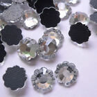 5.5mm Faceted Clear Flower Floral Flatback Hotfix Crystal Glass Rhinestones