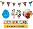 AGE 40 - Froh 40th Geburtstagsparty Banner, Ballons & Dekorationen