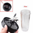 Blade Assembly & 18/24/32oz Cup Lids For 900W 1000W Nutri Ninja Blender Auto-iQ photo