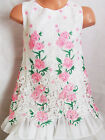 GIRLS LIGHT PINK ROSES FLORAL PRINT LACE CHIFFON SPECIAL OCCASION PARTY DRESS