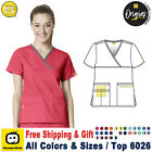 Внешний вид - WonderWink Origins XS-3XL Women Y-Neck Fashion Medical Work Scrub Top
