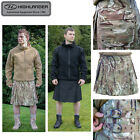 Highlander Army / Combat Ripstop Poly Cotton Kilt in HMTC Camo & Black S-XL