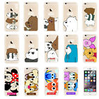 For iPhone Bare Bears Cartoon Characters Soft Silicone Rubberized Case Cover