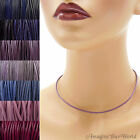 2 mm Purple Leather Cord Necklace or Choker Custom Length pk colors Handmade USA