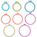 Внешний вид - NEW Plastic Cross Stitch Machine Embroidery Hoop Ring Sewing Tool 3-10 inch