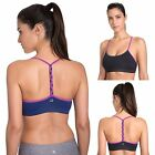 Women's Light Support Braided T-Back Fashion Yoga Sports Bra