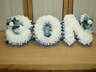 Artificial Funeral Flowers SON word tribute, grave memorial
