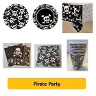 SKULLS Pirate PARTY PARTY Range (Kids/Birthday/Napkins/Plates/Cups)AMSCAN/UNIQUE