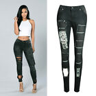 Best Sale Womens Casual Ripped Jeans Trousers Stretchy Slim Leggings Denim Pants