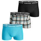 Bjorn Borg 2017 Mens BB Check Fitted Soft Stretch Boxer Briefs 3-Pack