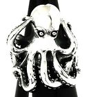 BIG GIANT OCTOPUS STERLING 925 SILVER SCUBA DIVER MENS RING