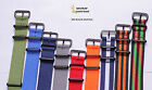 Black buckle 18-24mm Nylon Watch band watch strap watch 12color available 1pc
