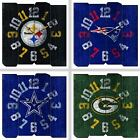 Choose Your NFL Team Vintage Style Distressed Wood Square Clock by Imperial