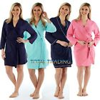 WOMENS LADIES DRESSING GOWN SUMMER  100% PURE COTTON  LIGHTWEIGHT HOLIDAY ROBE