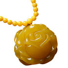 Second generation beeswax chicken oil yellow sweater chain rose pendant fashion