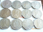 BIRTH YEARS LARGE/OLD 50p COINS 1969-1970-1985-1994 CHOICE WHICH YEAR COIN HUNT