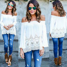 Summer Cotton Blouse Off Shoulder Loose Casual T Shirt Tops Women New Fashion