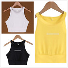 Sexy Women Halter Sleeveless Vest Crop Top camisole Tank top Shirt Blouse