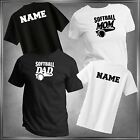 Softball Mom, Dad or (U-Decide) & Personalize T-Shirt All Adult Sizes XS - 6XL