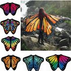 Women Big Butterfly Wing Shawl Stole Scarf Beach Wrap Cloak Costume Party Dress