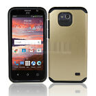 Hybrid Shockproof Armor Hard Case Rubber Phone Cover For ZTE Atrium /Scend LTE