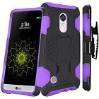 For LG K20 Plus K20 V Harmony Grace Scoil Hybrid Kickstand Holster Cover Case