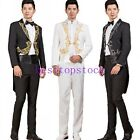 Men's 2 Pieces Show Wedding Swallow Tail Jacekt Slim Party Coat Pants Fashion