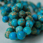 Quality Imperial Jasper Blue (dyed) Gemstone Round Beads - 4, 6, 8, 10mm Size