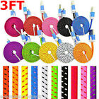 Rapid Charge Braided Micro USB Cable Fast Power Cord Galaxy S7 S6 S5 S4 Note 5 4