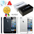 BRAND NEW FACTORY UNLOCKED APPLE IPHONE 5 16GB 32GB SMARTPHONE BLACK WHITE CDMA