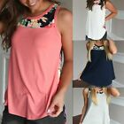 Women Lady Summer Floral Print O Neck Vest Sleeveless Tops T-shirt Loose Blouse