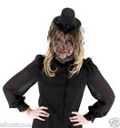 Mini Victorian Costume Top Hat w Tulle Ladies Goth Hat Mini Top Hat 250310