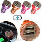 In-Car Dual Mini Travel USB Charger Adapter Plug For Any Mobile Phone Device