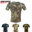 Men's Camouflage T-Shirt Tactical Military Short Sleeve Quick Dry Tops Tee S-XL
