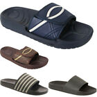 New Mens Slip On Velcro Comfort Casual Lightweight Flip Flop Sandals Sizes UK