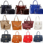 Women's Large Size 3 In 1 Tote Bags Quality Faux Leather Shoulder Bag Handbags