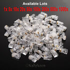 RJ45 Network Ethernet CAT5e CAT 5e Cable End Crimp Plug Connector GOLD Pins Bulk