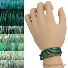 Teal Leather Cord Wrap Bracelet Custom Length to 72 inches Handmade USA necklace