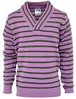 Boys X Over V Neck Striped Jumper Springweight Top 4-6 Years SALE