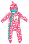 Girls Baby Owl Motif Daisy Sleepsuit & Hat Set 9-12 Months SALE