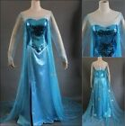 Disney Movie Frozen Elsa Dress Made Cosplay Costume For Adult and Children