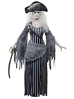 Ghost Ship Princess Pirate Grey Ghoul Halloween Fancy Dress Costume With Hat